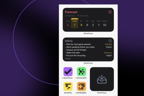 OmniFocus 3.11 for iPhone, iPad adds support for iOS 14 Home screen widgets