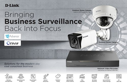 D-Link launches new high-res Vigilance Series Surveillance Solutions