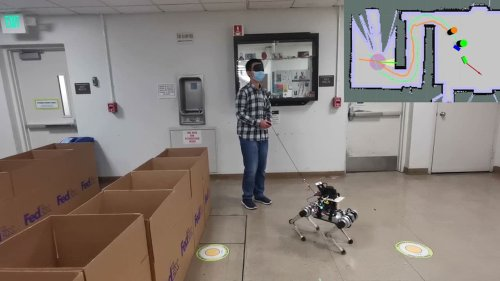 Robotic Guide Dog can lead blind people around obstacles