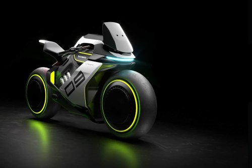 Segway Apex H2, the first electric hydrogen hybrid motorcycle