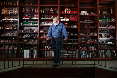 Meet the man who's collected 16 rooms worth of miniature models from around the world