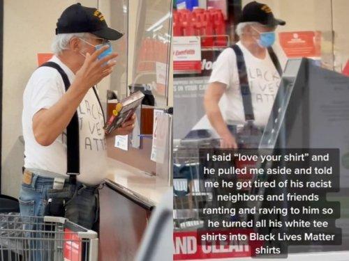 Veteran goes viral on TikTok after wearing homemade Black Lives Matter T-shirt: '