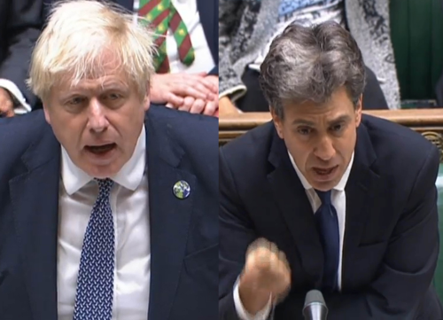 Who won PMQs? We scored Johnson and a returning Ed Miliband over their climate clash