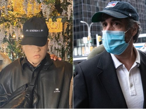 Kanye West wears creepy mask to meeting with Michael Cohen