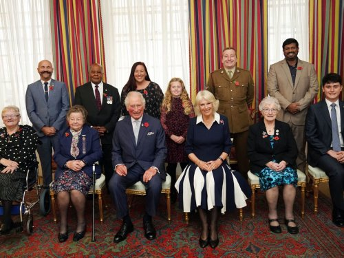 Charles and Camilla launch Royal British Legion's 100th poppy appeal