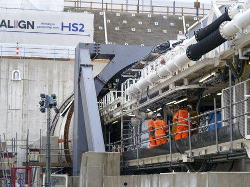 Florence the HS2 machine starts digging through Chiltern Hills