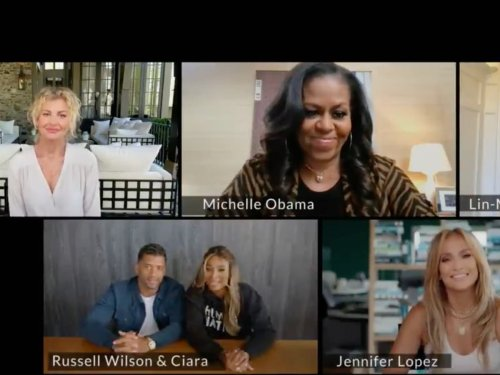Michelle Obama asks Lin-Manuel Miranda, Jennifer Lopez, and more friends to 'help spread the word' about vaccines