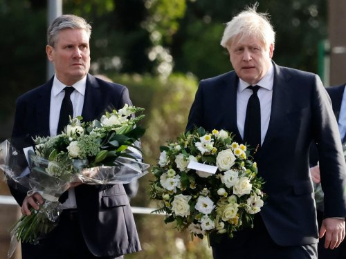 PM and Starmer lay flowers at scene of MP David Amess stabbing - live