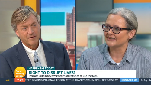 Richard Madeley asked if he's 'stupid' during clash with Insulate Britain activist