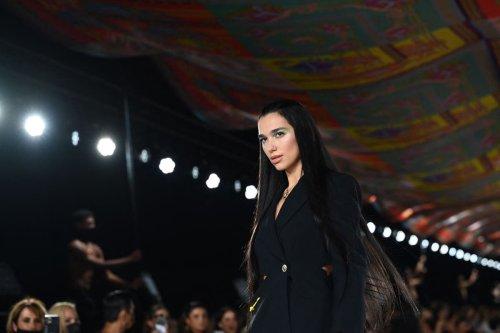 Dua Lipa makes runway debut at Versace show during Milan Fashion Week