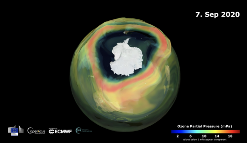 Hole in the ozone layer over South Pole is now greater than size of Antarctica