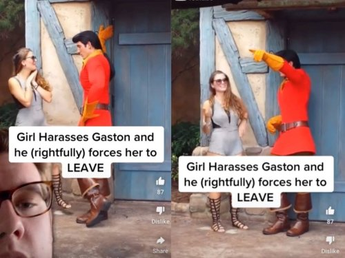 Disney fan shamed for inappropriately touching Gaston character