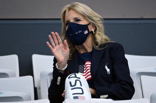 Jill Biden wears Ralph Lauren Team USA outfit to cheer on US athletes at Tokyo Olympics