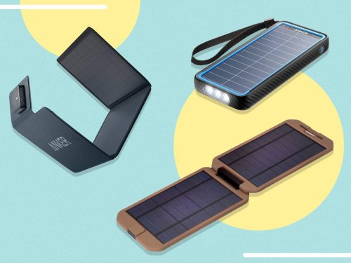 Going camping? Be sure to pack one of these portable solar chargers