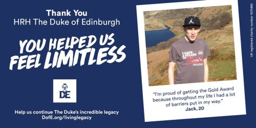 DofE participants use billboards to thank Philip for 'making us feel limitless'