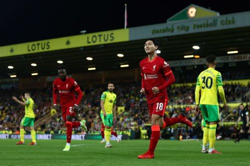 Liverpool cruise past Norwich in Carabao Cup as Minamino scores twice