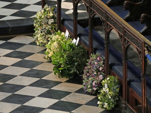 The symbolic meaning behind all the flowers in Harry and Meghan's wreath for Prince Philip