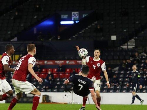 Scotland earn late draw against Austria after clever John McGinn overhead kick