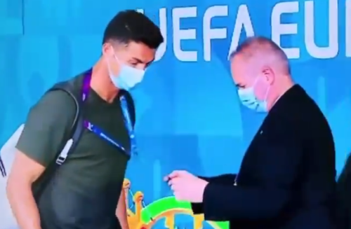 Cristiano Ronaldo left surprised after being ID'd at Euro 2020