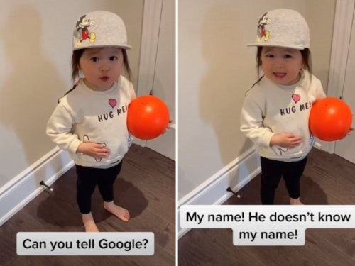 Toddler can't get Google Home to understand her in adorable viral TikTok