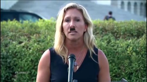 Jimmy Kimmel makes Marjorie Taylor Greene look like Hitler