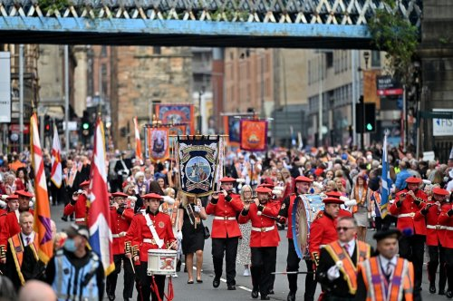 Arrests after 'racist and sectarian singing' during Orange walks in Glasgow