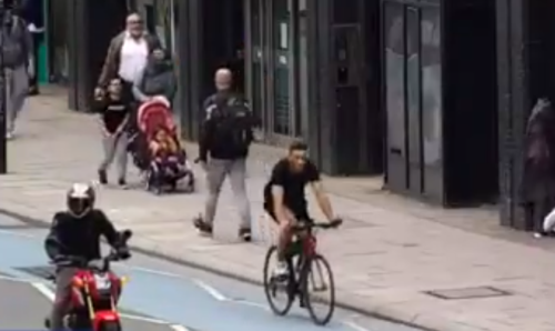 Cyclists jailed after CCTV shows him causing pedestrian's death