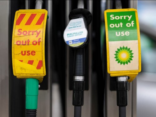 Long queues to at petrol stations amid lorry driver shortage - follow live