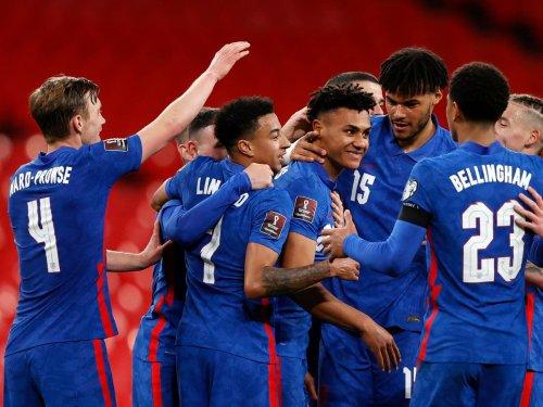 Ollie Watkins scores on debut as England thrash San Marino in World Cup qualifier