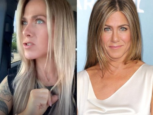 Jennifer Aniston has her say on TikTok lookalike