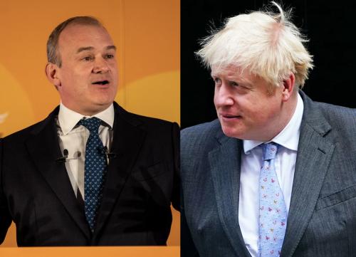 Lib Dem leader Ed Davey praised for scathing speech about Boris Johnson