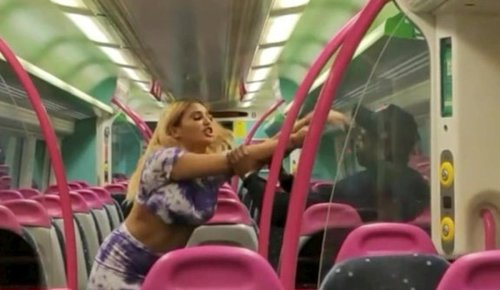 Woman filmed racially abusing train passengers in shocking video