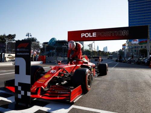 Charles Leclerc qualifies first for F1 Azerbaijan Grand Prix