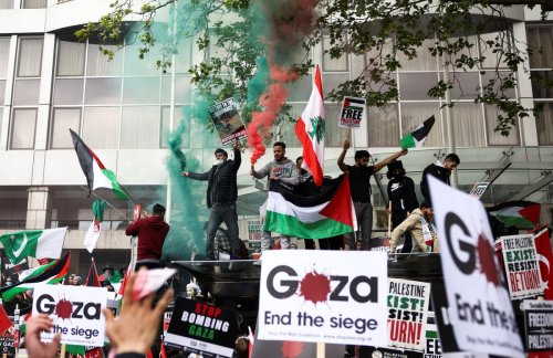 Israel- Gaza: London protesters take to streets in support of Palestine