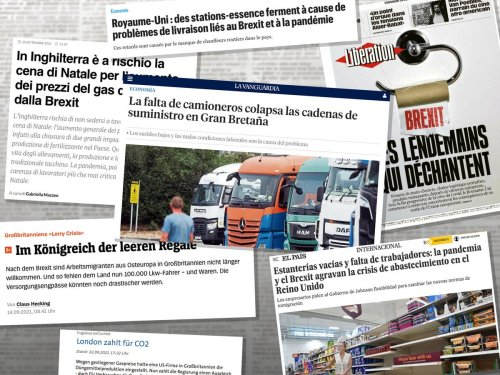 European newspapers blame Brexit for UK supply chain crisis