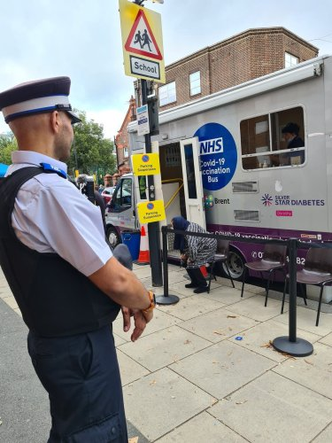 Police protect mobile vaccine units after anti-vaxxers harass staff and public