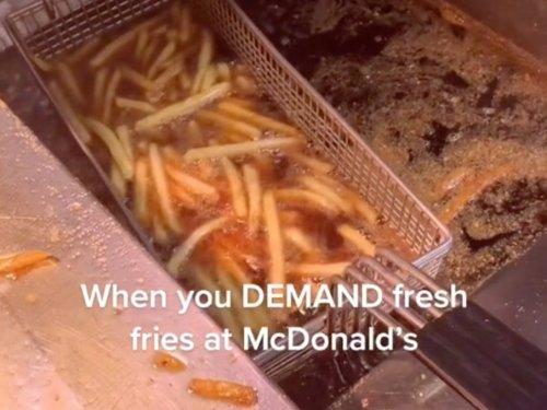 McDonald's worker reveals how he reheats fries for demanding customers