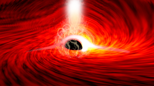 Scientists see light coming from the other side of a black hole