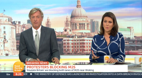 Richard Madeley slams 'ludicrous' Insulate Britain M25 protest on GMB