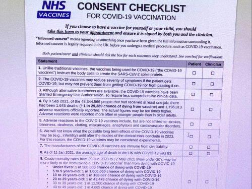 Schools sent hoax NHS 'consent checklist' over Covid jabs