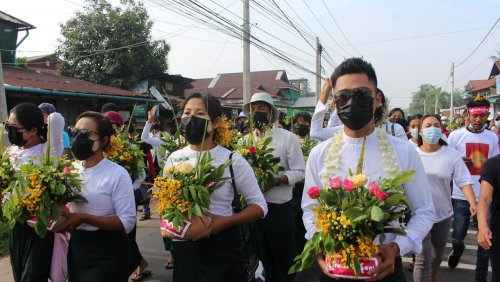 Myanmar new year celebrations replaced by countrywide protests