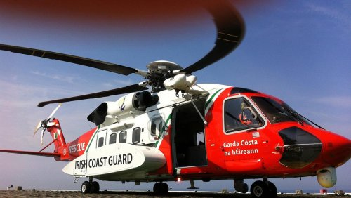 Pair rescued from sandbank after getting cut off by tide on beach