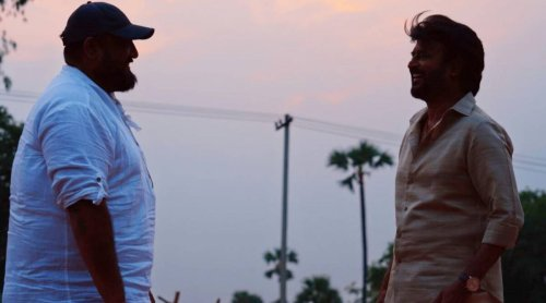 Superstar Rajinikanth shares a candid moment with director Siva in new photo from Annaatthe set, see pic
