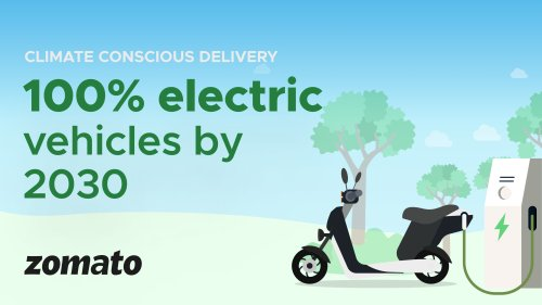 To curb its carbon footprint Zomato commits to have an all-EV fleet by 2030