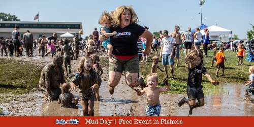Mud Day in Fishers at Cyntheanne Park | Free Family Fun