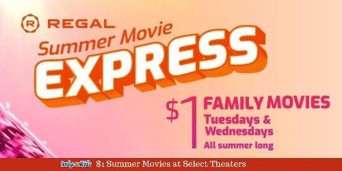 $1 Summer Movies at Regal Cinemas | Carmel & Greenwood