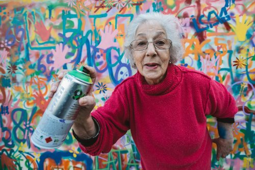 Meet the graffitiing grannies who express themselves through street art to stay young at heart