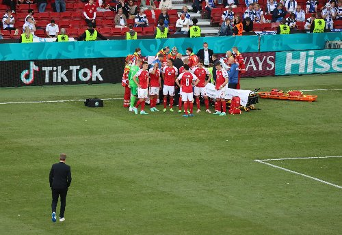 Denmark's Christian Eriksen given CPR after collapsing on the pitch at Euros
