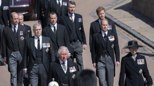 The medals worn by members of the Royal Family at Prince Philip's funeral