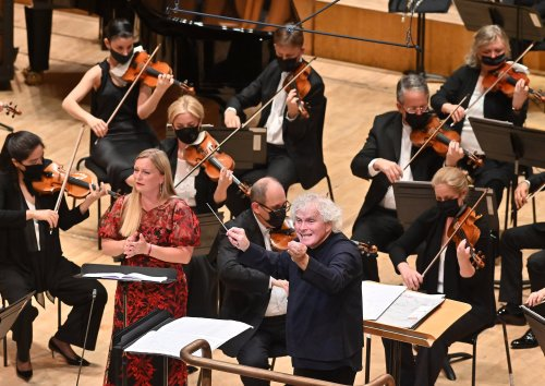 It was a celebratory statement of intent from Sir Simon Rattle and the LSO
